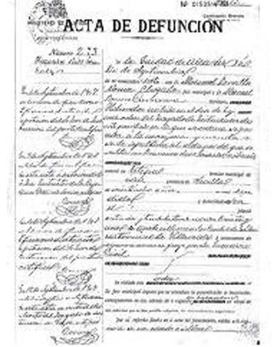 certificado de defuncion