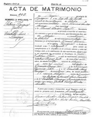 certificado dematrimonio tipo